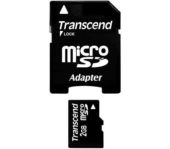Transcend 2GB microSD paměťová karta (bez adaptéru) (TS2GUSDC)