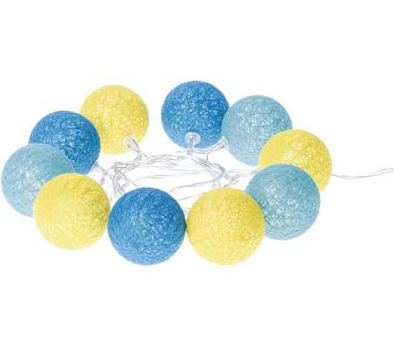 Emos LED dekorační řetěz 10LED COTTON BALL 2AA T WW 1