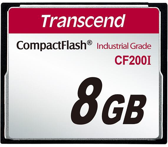 Transcend 8GB INDUSTRIAL TEMP CF200I CF CARD + DOPRAVA ZDARMA