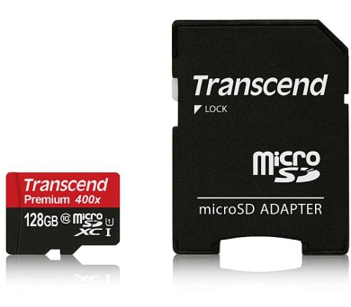 Transcend 128GB microSDXC UHS-I 400x Premium (Class 10) paměťová karta (s adaptérem) (TS128GUSDU1) + DOPRAVA ZDARMA