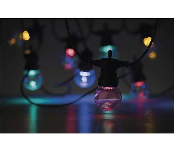 Emos LED dekorační řetěz 50LED 10× PARTY BULB MC IP44 + DOPRAVA ZDARMA