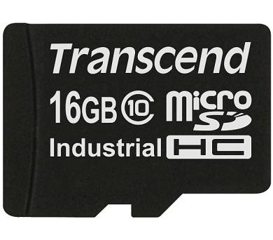 Transcend 16GB microSDHC (Class 10) MLC průmyslová paměťová karta (bez adaptéru)