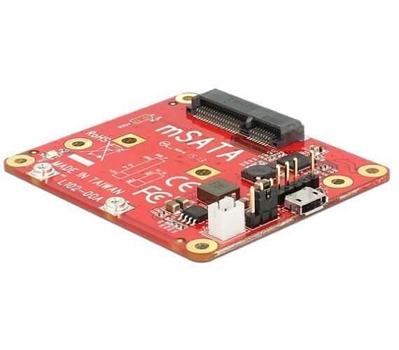 Delock konvertor Raspberry Pi USB Micro-B samice / USB pin header > mSATA 6 Gb/s (62648)