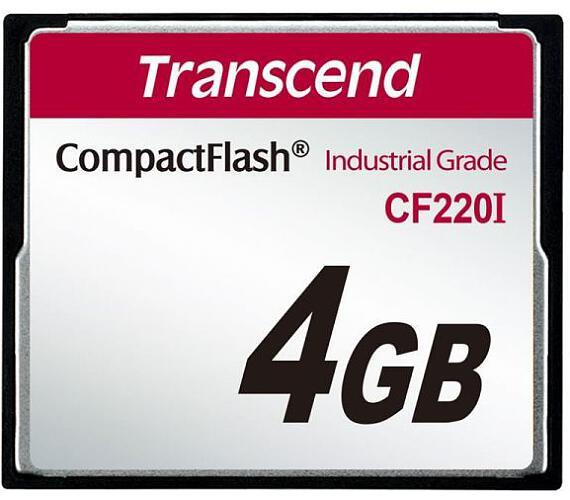 Transcend 4GB INDUSTRIAL TEMP CF220I CF CARD (SLC) Fixed disk and UDMA5 (TS4GCF220I)