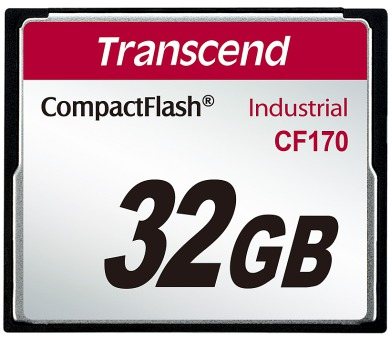 Transcend 32GB INDUSTRIAL CF CARD CF170 paměťová karta (MLC) (TS32GCF170) + DOPRAVA ZDARMA