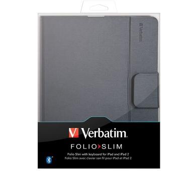 Verbatim Folio - Slim s Bluetooth anglickou klávesnicí pro tablet iPad II + iPad (98021) + DOPRAVA ZDARMA