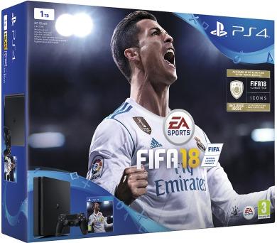 Sony PS4 1TB slim + FIFA 18