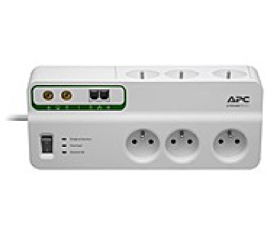 APC Home/Office SurgeArrest 6 Outlets with Phone & Coax Protection 230V France