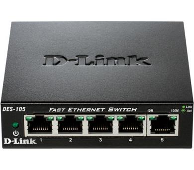 D-Link DES-105 5-port 10/100 Metal Housing Desktop Switch