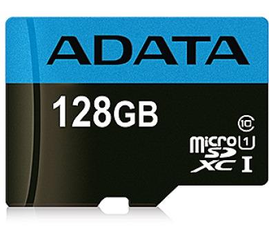 ADATA Micro SDXC karta 128GB UHS-I Class 10 + SD adaptér