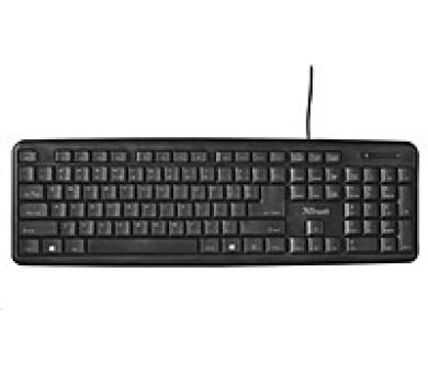 TRUST klávesnice Ziva Keyboard CZ/SK (21654)