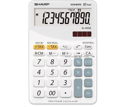 SHARP kalkulačka - EL-M332BWH - bílá