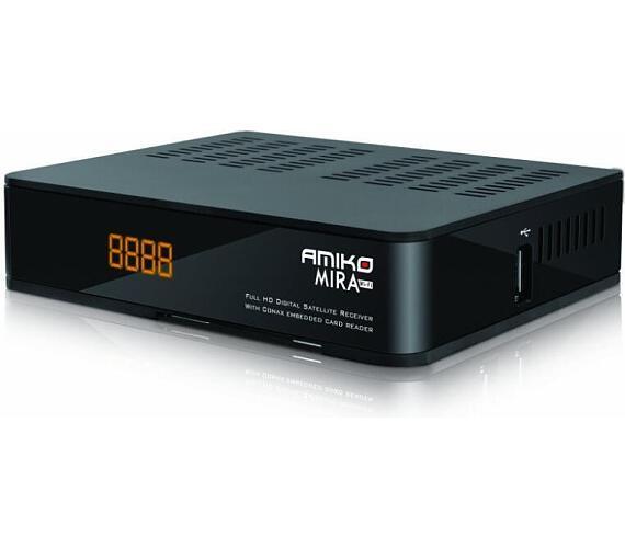 AMIKO DVB-S2 HD přijímač MIRA WiFi/ Full HD/ čtečka CONAX/ MPEG-2/ MPEG-4 (H.264)/ HDMI/ USB/ SCART/ Wi-Fi