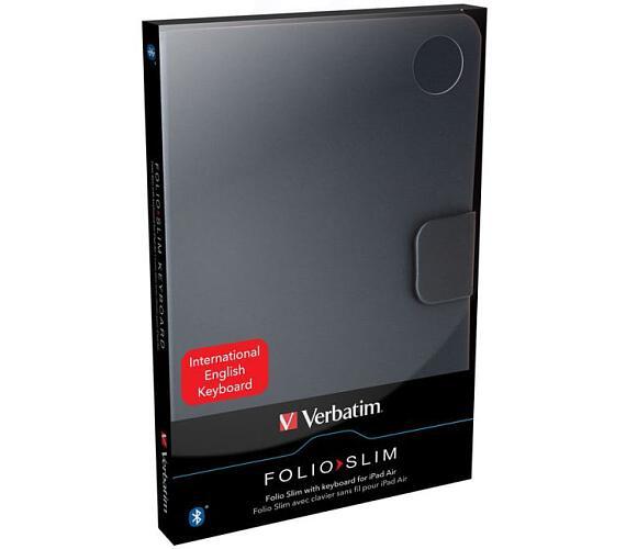 Verbatim Folio - Slim s klávesnicí Bluetooth pro tablety iPad Air – anglická klávesnice (98422