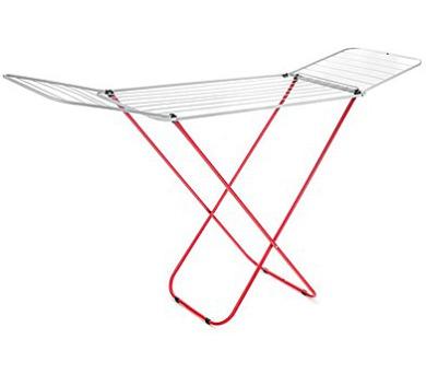 Sušák na prádlo ECONOMY 16 m bílo-červený