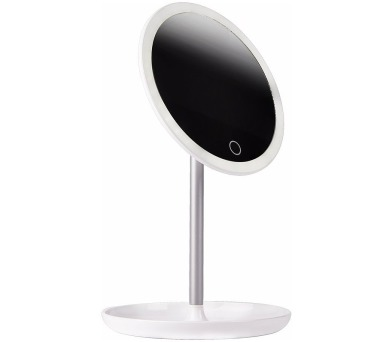 IMMAX kosmetické zrcátko s LED podsvícením Circle/ 4W/ 5V/1A/ 5500-6500K/ kapacita 600mAh/ bílé