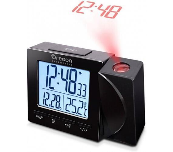 Digitální budík s teploměrem a projekcí RM512PBK Oregon Scientific