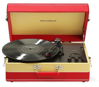 Ricatech - retro gramofon RTT95 Suitcase Turntable