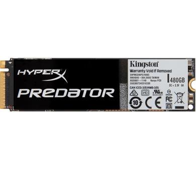 KINGSTON SSD 480GB HyperX Predator / PCIe Gen2x4 M.2 2280 / bez adaptéru