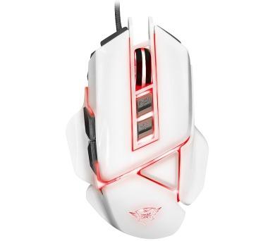Trust GXT 154 Falx myš / herní / drátová / optická / podsvícená / 2400 dpi / 7 tlačítek / 20 g závaží / USB / bílá (21835)