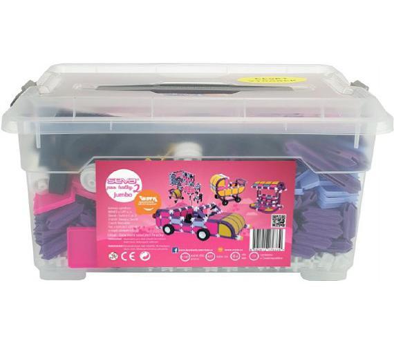 Stavebnice Seva pro holky 2 Jumbo plast 1140ks v plastovém boxu 37x20x26cm + DOPRAVA ZDARMA