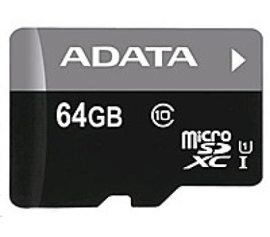ADATA Micro SDXC karta 64GB UHS-I Class 10 + SD adaptér