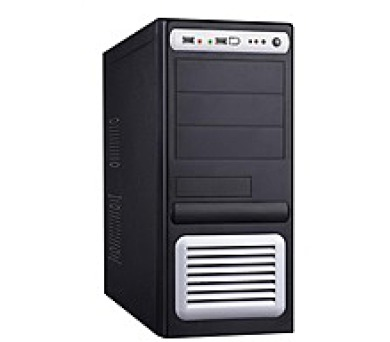 EUROCASE skříň ML5435 400W FORTRON (AX400-60APN 85+) black/silver P4 (2x USB