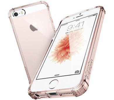 SPIGEN Crystal Shell PRO APPLE IPHONE 5/5S/5SE - TRANSPARENTNÍ ROSE + DOPRAVA ZDARMA