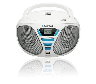 BLAUPUNKT BB5WH FM PLL CD/MP3/USB bílý + DOPRAVA ZDARMA