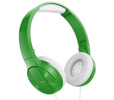 PIONEER SE-MJ503G sluchátka přes hlavu/ Zelená