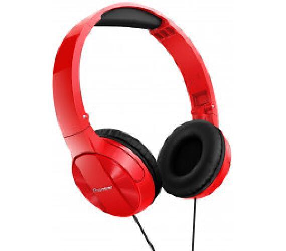 PIONEER SE-MJ503R sluchátka přes hlavu/ Červená