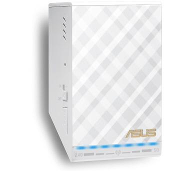 ASUS přístupový bod RP-AC52 / 802.11a/b/g/n/ac / 2.4 a 5GHz/1x WAN 10/100 / bílý