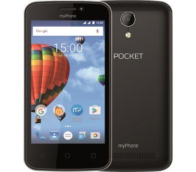 "myPhone Pocket - černý 4"" IPS/480x854/4GB/500MB RAM//2Mpx/Android 6"