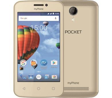 "myPhone Pocket - zlatý 4"" IPS/800x480/4GB/500MB RAM//2Mpx/Android 6"
