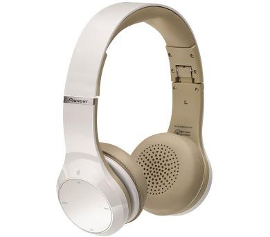 PIONEER SE-MJ5771BTW bezdrátová sluchátka přes hlavu/ Bílá