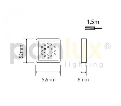 Panlux OLGA S přisazené stropní a nástěnné kruhové svítidlo se senzorem 60W