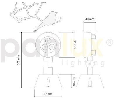 Panlux CRYSTALL bytové LED svítidlo