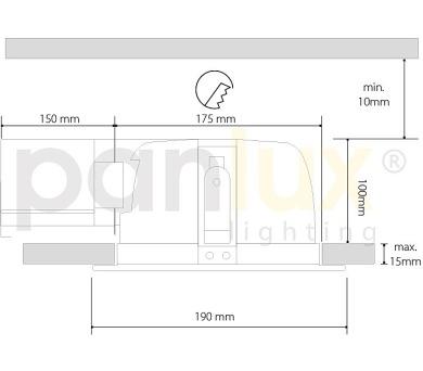 Panlux ARKA Z zářivkové nábytkové svítidlo 11W