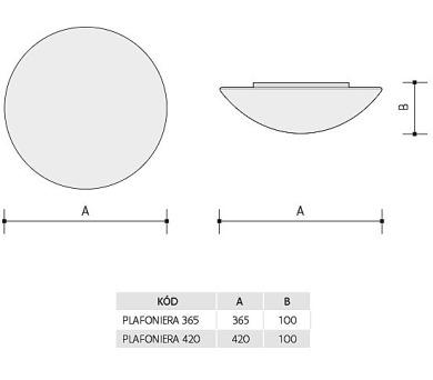 Panlux PLAFONIERA 365 S přisazené stropní a nástěnné svítidlo + DOPRAVA ZDARMA