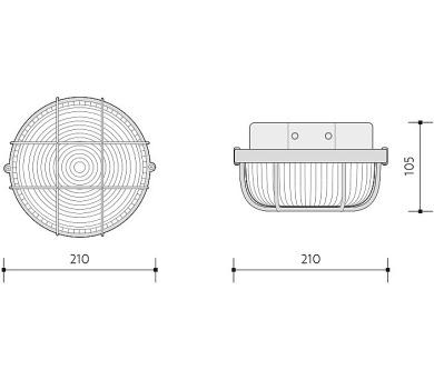 Panlux AIGLOS zářivkové nábytkové svítidlo s vypínačem pod kuchyňskou linku + DOPRAVA ZDARMA