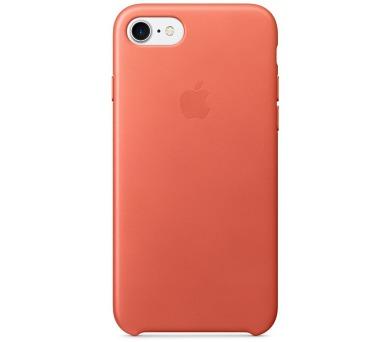 Apple Leather Case pro iPhone 7 - Geranium (mq5f2zm/a)