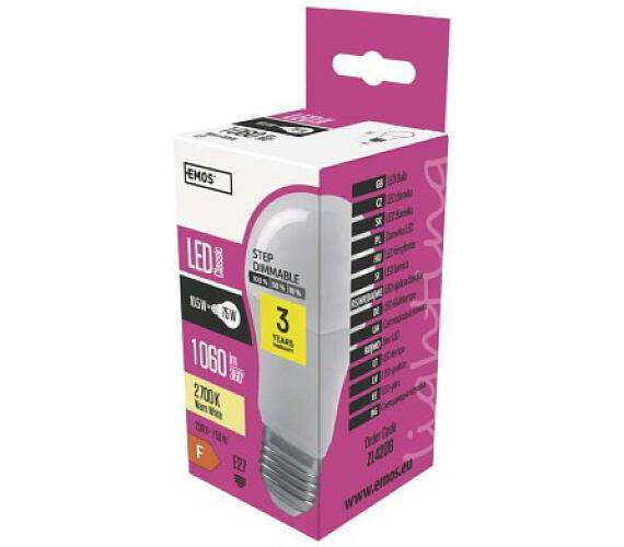 LED žárovka A60 11,5W E27 teplá bílá