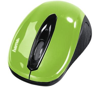 HAMA myš AM-7300/ bezdrátová/ optická/ 1000 dpi/ 3 tlačítka/ USB/ zelená (86567)