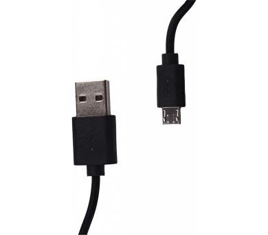 WE Datový kabel micro USB 100cm černý