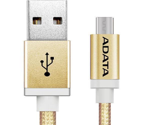 ADATA Micro USB kabel pletený 1m zlatý (AMUCAL-100CMK-CGD)