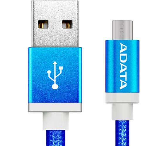ADATA Micro USB kabel pletený 1m modrý (AMUCAL-100CMK-CBL)