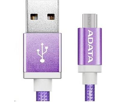 ADATA Micro USB kabel pletený 1m fialový