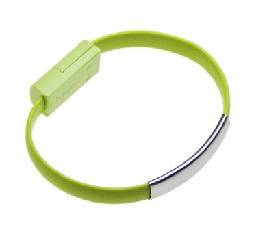Datový kabel BRACELET iPh5/6 nabíjecí green