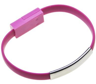 Datový kabel BRACELET iPh5/6 nabíjecí pink