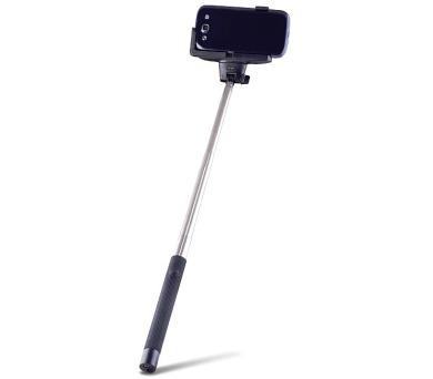 FOREVER MP-100 selfie tyčka s ovládacím bluetooth tlačítkem - černá